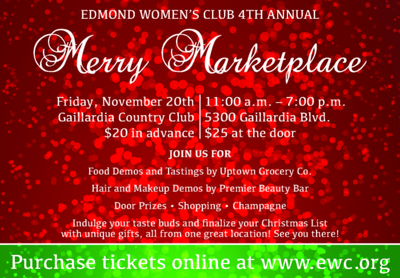 Edmond Women\'s Club - 4th Annual Merry Marketplace